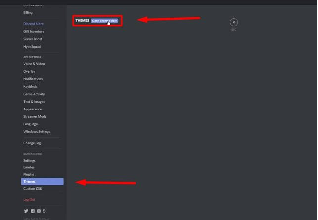 how to change discord background upload theme