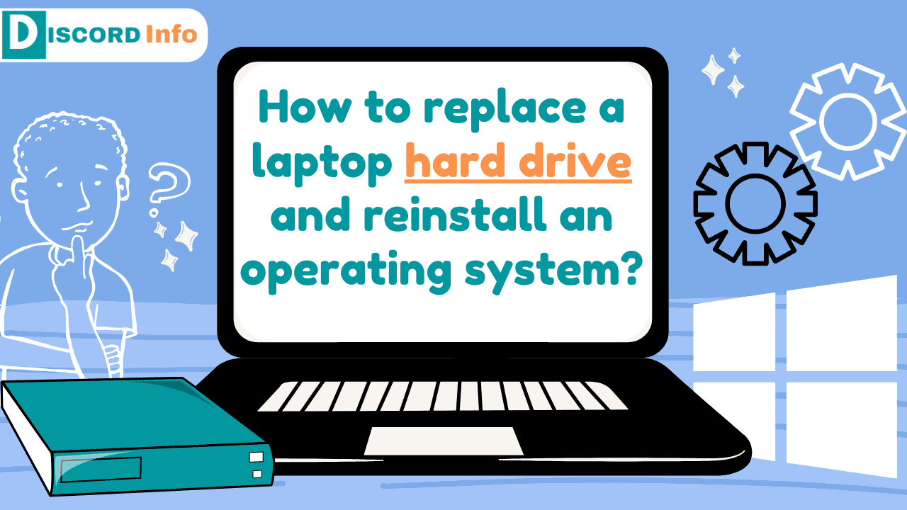 How to replace a laptop hard drive and reinstall an operating system
